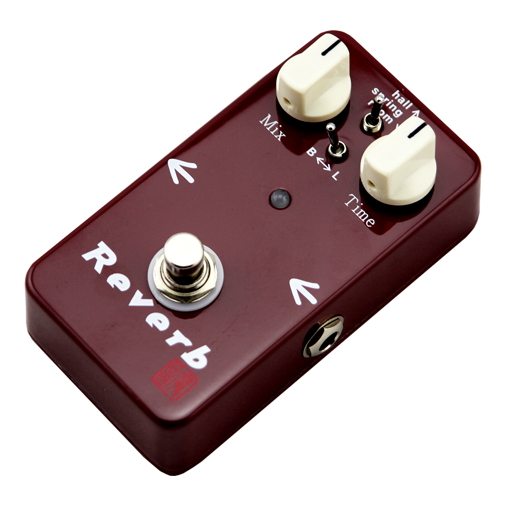 ФОТО Moen Reverb Effect Pedal Hall Spring Room Electric Guitar AM-DS True Bypass