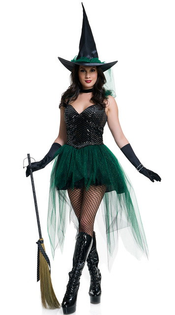 4 Pcs Gothic Witch Halloween Costume Sorceress Costume Adult Witch Fancy Dress Witch Wicked Cosplay  sc 1 st  AliExpress.com & 4 Pcs Gothic Witch Halloween Costume Sorceress Costume Adult Witch ...
