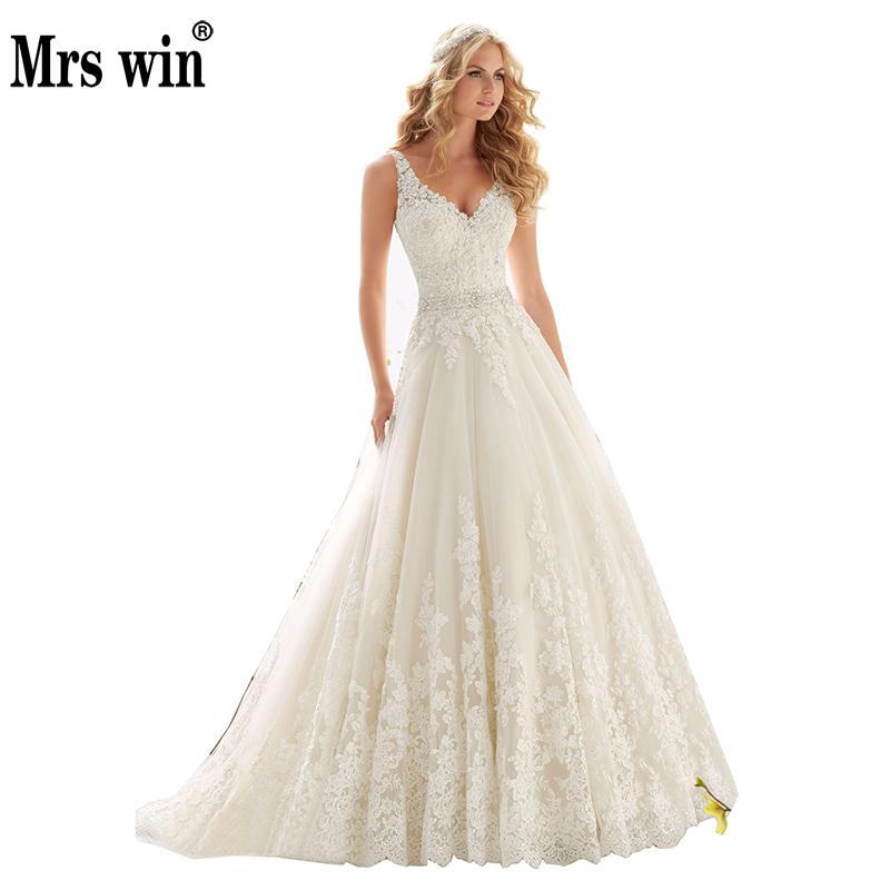 Vintage Wedding Gown Designers: Aliexpress.com : Buy 2019 New Design A Line Lace Wedding