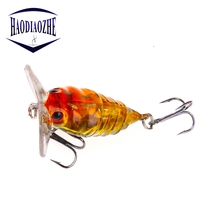 Fly fishing Lure Insects Hard Bait 4cm 4g Crankbaits Isca Artificial Pesca Bass Carp Pike Popper Crank Fishing Accessories