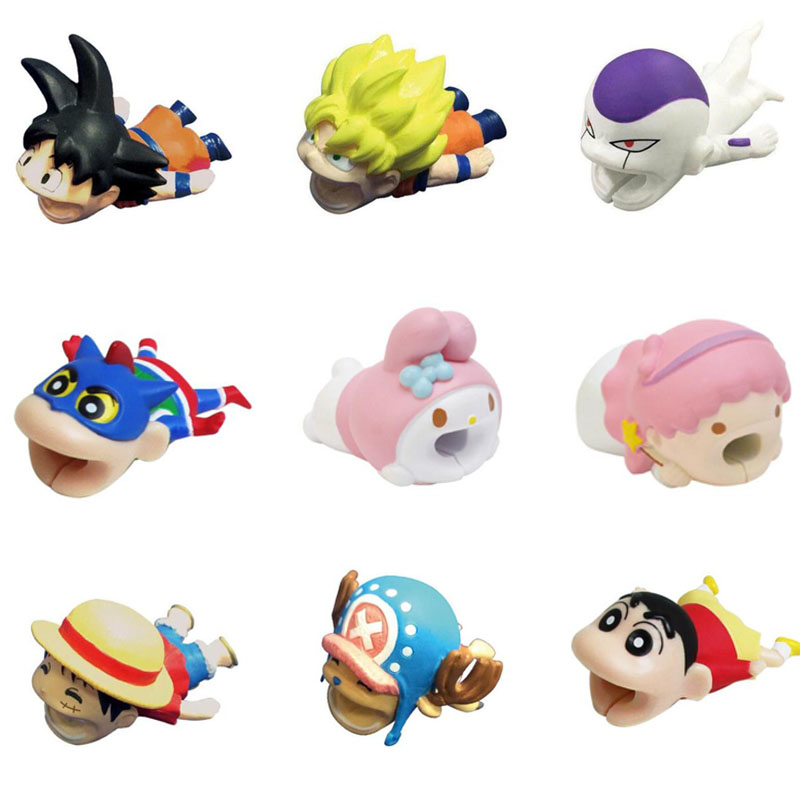 Cable Bite Animal Cable Protector Cartoon Stitch One Piece Monkey D. Luffy Chopper Dragon Ball Son Goku Frieza Cable Bites Toys