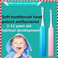 両面歯ブラシヘッドでteethbrush 2 交換可能な子供防水 (電池は完備)