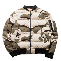 New 2018 Collar Camouflage Air Force Male Clothing Pattern Cotton Stand Print Zipper Casual No Winter Jacket Men Northe Face
