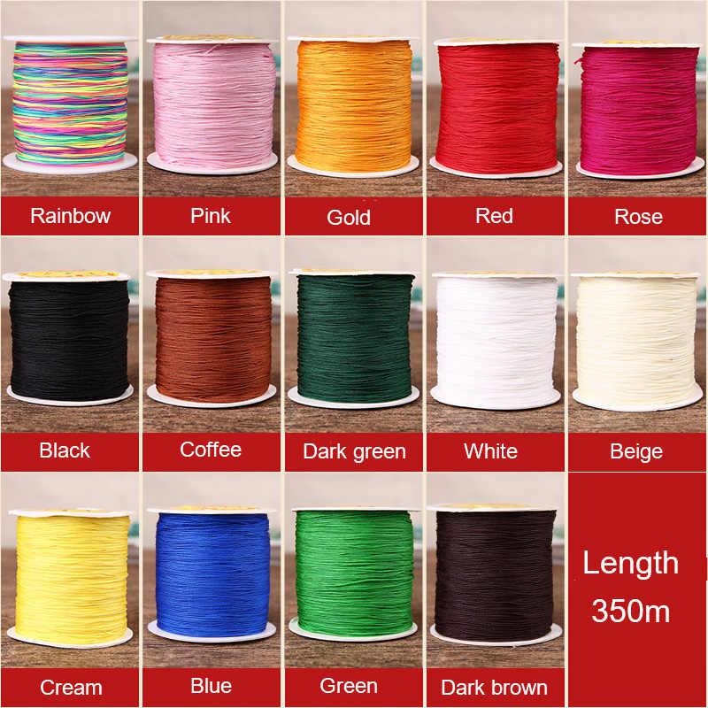 350 m/Roll chinois noeud tressé fil Nylon fil bricolage artisanat Bracelet collier bijoux fil couture artisanat décoration fil 486