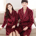 Brand Couples Long Sleeve Sleep Robe Men/Women Robes Sleepwear Coral Fleece Mink Flannel Bathrobes Thicken Bathrobes for Lovers