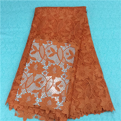 Panic Buying Wonderful Flowers Design African Guipure Lace Fabric New Arrival High Quality Water Soluble Lace WKS11-61