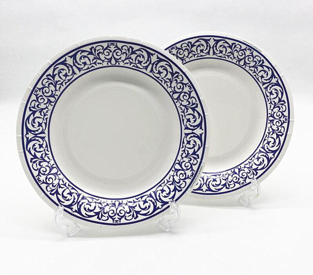 Free Shipping 100pcs 8u0027u0027 Blue White Porcelain Paper Plates for Valentine Birthday Wedding Nursery  sc 1 st  AliExpress.com & Free Shipping 100pcs 8u0027u0027 Blue White Porcelain Paper Plates for ...
