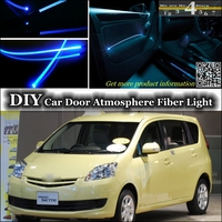 interior Ambient Light Tuning Atmosphere Fiber Optic Band Lights For TOYOTA Passo For Daihatsu Sirion Boon For Subaru Justy