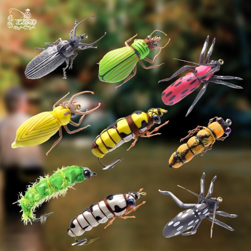 Mosca seca Moscas de pesca Conjunto Escarabajo Insecto Señuelo Mosca - Pescando
