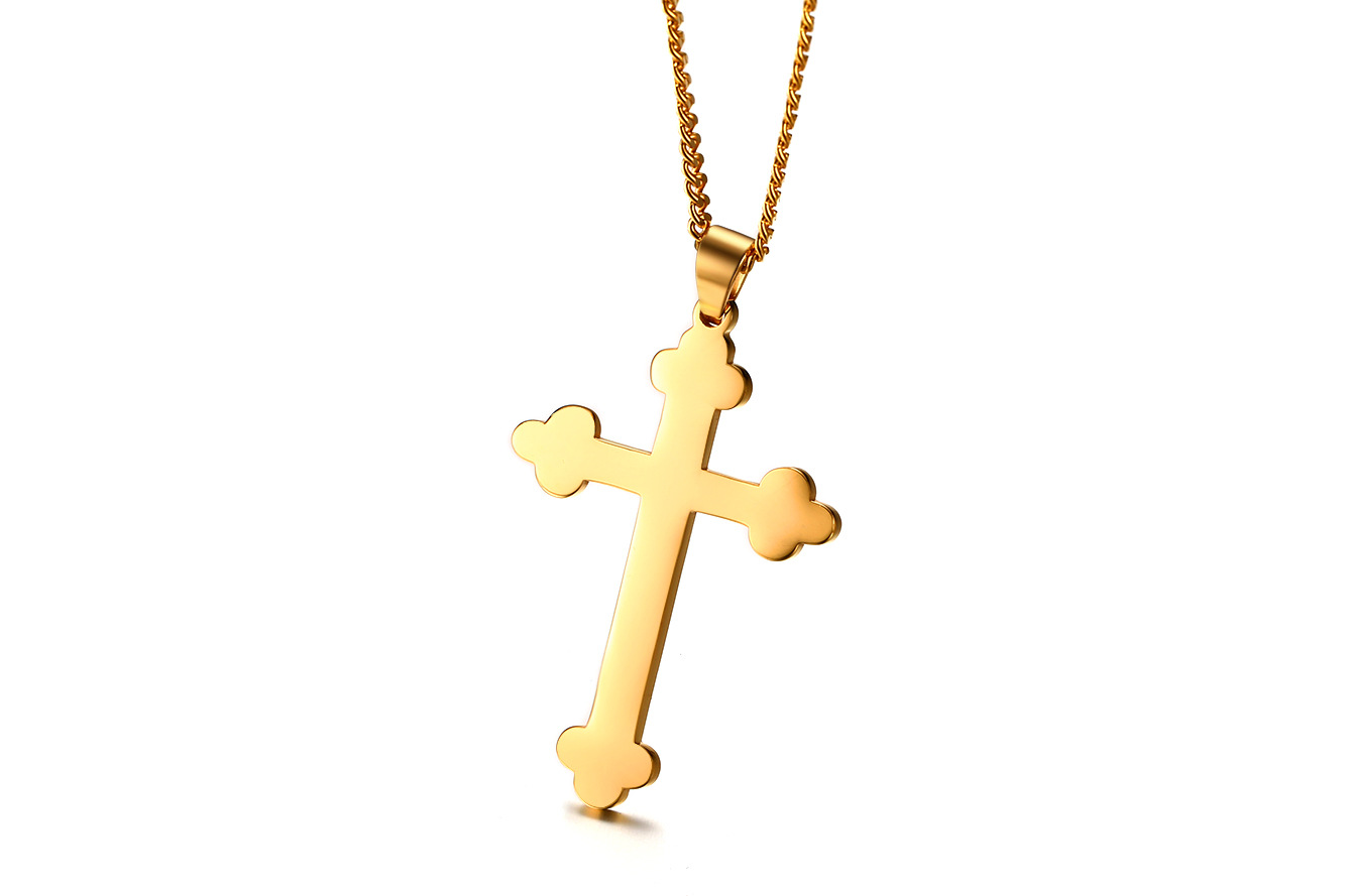 Long chains goldsilver eastern orthodox cross necklace pendant undefined buycottarizona