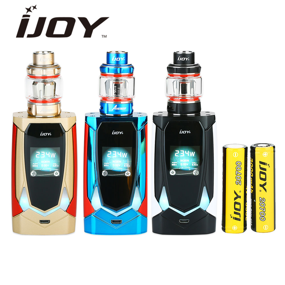 Original IJOY Avenger 270 234W TC Kit with Avenger Tank Voice Control Mod with 20700 Battery 6000mAh Vape E-cigarette Avenger original ijoy saber 100 20700 vw kit max 100w saber 100 kit with diamond subohm tank 5 5ml