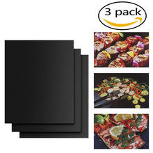 3pcs/set PTFE Coated Fiberglass Fabric Non-Stick BBQ Grill Mat Reusable Portable Picnic Cokking Barbecue BBQ Grill Mat