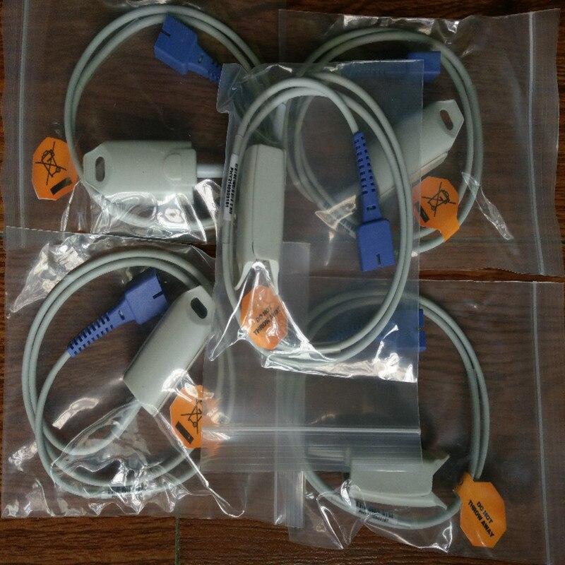 5 Pçs/lote Estoque Bens Frete Grátis Compatibe Para Nellcor Db9 Pino Com 0ximax Tecnologia Adulto Fingerclip Spo2 Sensor Sonda Spo2 Tpu 1 M