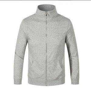Image 2 - ロゴカスタマイズされたコットンパーカースタンド襟ジャケット DIY カスタマイズされたパターン designerhoodie 刺繍やデジタル印刷のロゴ