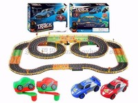 8861B Hand Dynamo Roadster Track Toy Double Competitive Toys With Lamp 67*48*8cm ABS Plastis Multicolor