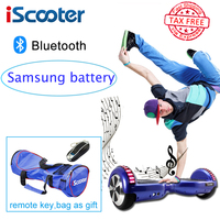 IScooter Hoverboard Sansung Battery Bluetooth Electric Skateboard Steering Wheel Smart 2 Wheel Self Balance Standing