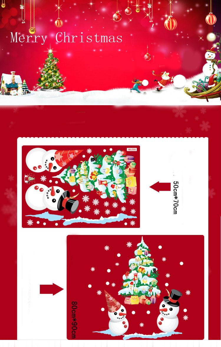 новый магазин окна снеговик рождество рождество рождество дерево стены стикеры аксессуары для дома рождество стикеры окна