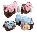 2PCS/SET New Free Shipping Babies Care Product Multifunctional Mummy Backpack Nappy Bag Baby Diaper Bags Mommy Maternity Bag