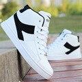 2016 hot sale man shoes white high-top canvas casual shoes men student shoes skid hip-hop dance shoes sapatos warm man boots