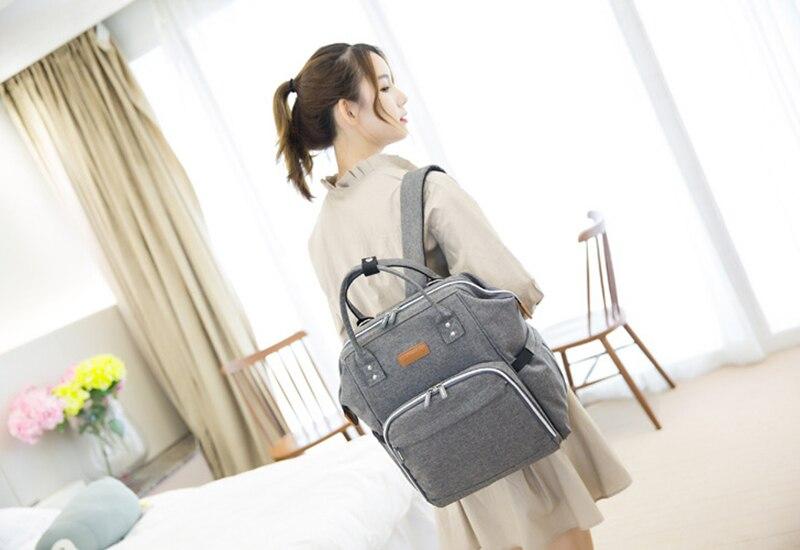 HTB1t5YjgInI8KJjSsziq6z8QpXav 23 Colors Fashion Mummy Maternity Nappy Bag Large Capacity Baby Diaper Bag Travel Backpack Designer Nursing Bag for Baby Care