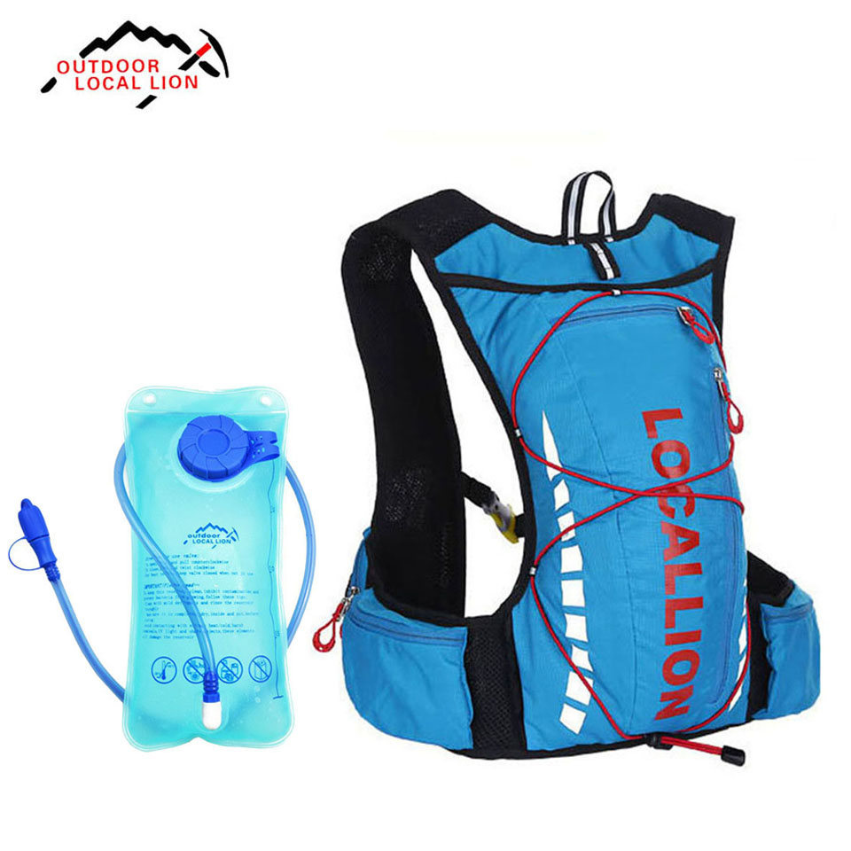 LOCAL LION 10L Running Hydration Backpack Women Men's Cycling Hiking Backpack Outdoor Sport Marathon Bag With 1.5L Water Bag