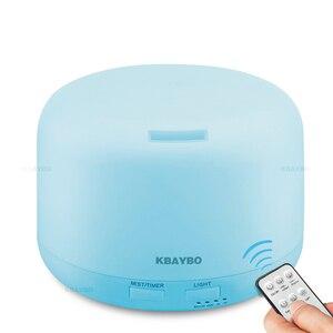 Image 1 - Ультразвуковой увлажнитель воздуха KBAYBO, 300 мл, диффузор эфирного масла, электрический пульт дистанционного управления, ароматерапия с цветными лампами