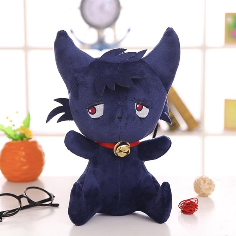 Anime Servamp Dolls Toy Kuro Sleepy Ash Plush Toy Open Eyes Cat Stuffed Toys Soft Cat Animal Dolls Chirstmas Kid Gift