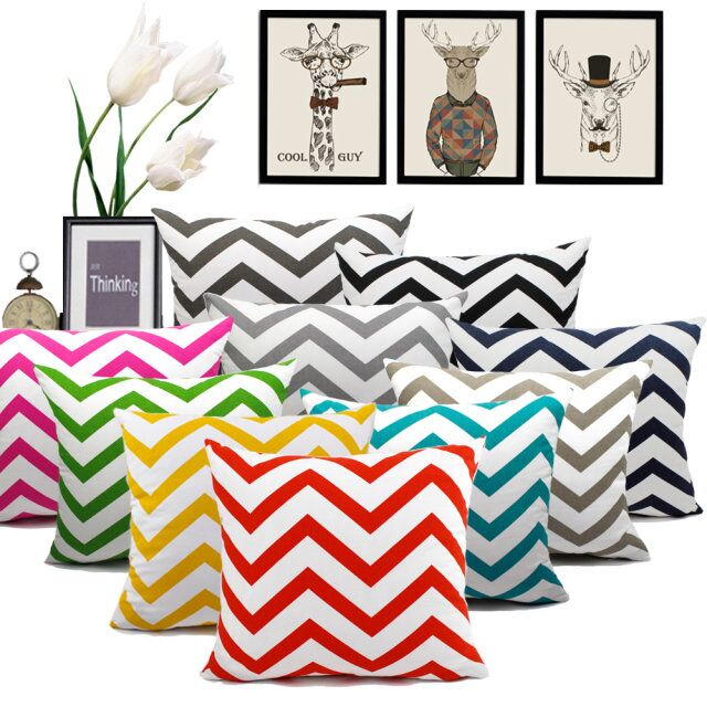Modna bombažna blazina po meri Geometric Stripe Colour Throw Pillowcase Velika blazina za kavč stol Home Decor 40 45 50 60 70cm Capa