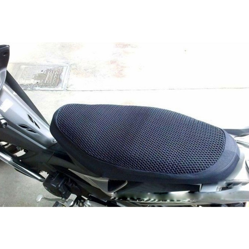 Breathable Summer Cool 3D Mesh Motorcycle Moped Motorbike Scooter Seat Covers Cushion Anti Slip Waterproof FREE SHIPPING