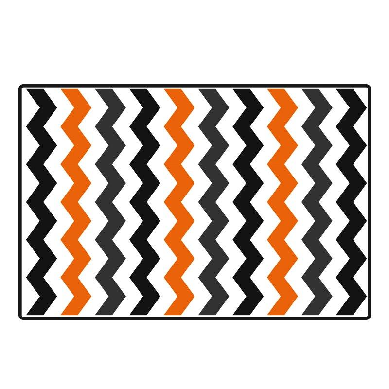 Style Simple européen Design abstrait motif rayé tapis rectangulaire anti-dérapant tapis lavable pour chaise de bureau salle d'étude
