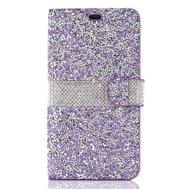 custodia iphone x flip glitter