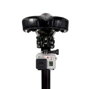 Image 4 - مقود الدراجة جبل ل GoPro المقعد المشبك للدراجات مسامير معدنية 3 Way تعديل محور الذراع ل الذهاب برو الرياضة كاميرا