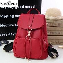 Yingpei женщины рюкзак модные школьные сумки для подростков ноутбук путешествия моды рюкзак для девочек-подростков высокое качество