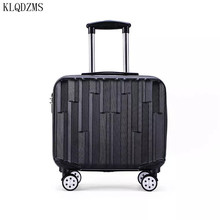 KLQDZMS 18inch ABS PC rolling luggage spinner women men travel  suitcase trolley bags with wheels