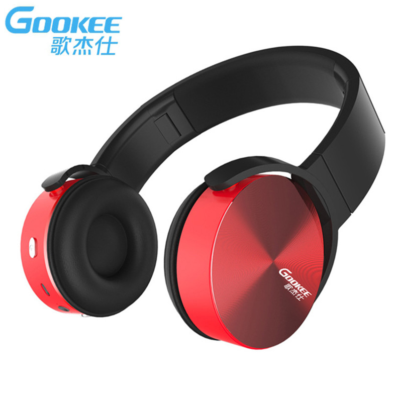 GOOKEE B201 Bluetooth Headset Headphones Stereo Wireless Earphone for IPhone Android Phone Computer Fone De Ouvido bluetooth earphone headphone for iphone samsung xiaomi fone de ouvido qkz qg8 bluetooth headset sport wireless hifi music stereo