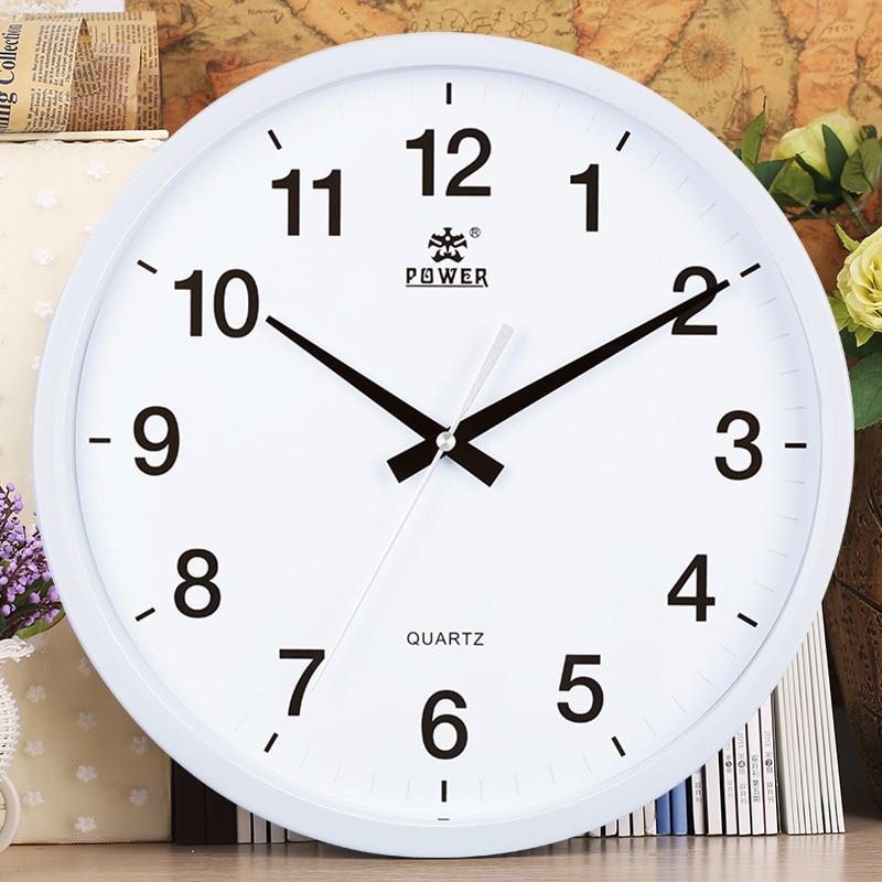 Marca Power 12 pulgadas/14 pulgadas circular Reloj de pared negro ...