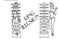 Magic truques/anel ilusão stage magic/magic adereços/grande magic
