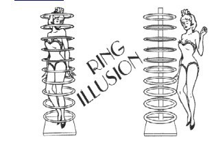 Magic Tricks/ Ring Illusion Stage Magic/Magic Props/Large Magic magic props magic ring 2 5cm
