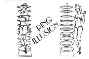 Tours de magie/anneau Illusion magie de scène/accessoires de magie/grande magie