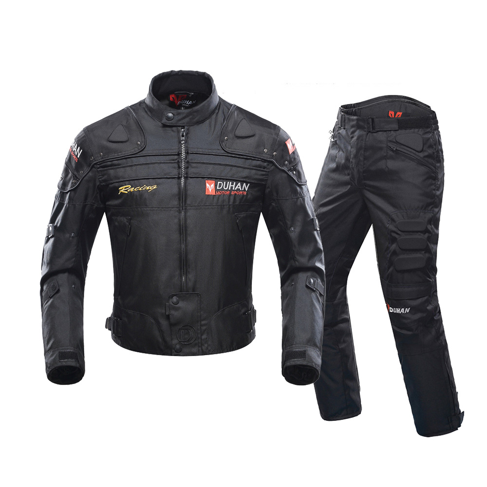 DUHAN Autumn Winter Cold-proof Motorcycle Jacket Moto Protector Motorcycle Pants Moto Suit Touring Clothing Protective Gear Set