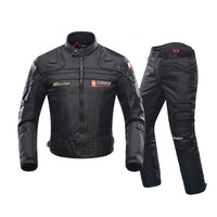 DUHAN Autumn Winter Cold proof Motorcycle Jacket Moto Protector Motorcycle Pants Moto Suit Touring Clothing Protective Gear Set