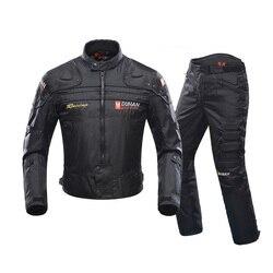 Duhan Herfst Winter Koude-Proof Motorfiets Jas Moto Protector Motorfiets Broek Moto Pak Touring Kleding Beschermende Kleding Set