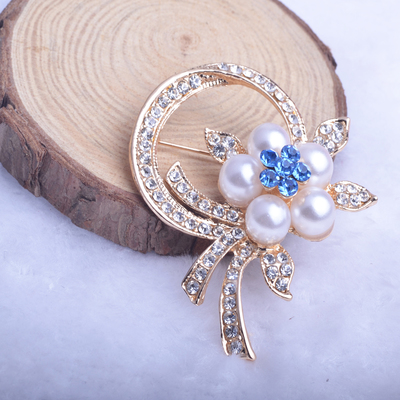 PULATU Dalaful Fantacy Brooch Pin Multicolor Crystal Flower Skirt JOCESTYLE Cat Eye Stone silver Popular Drip Badge Pin Suit