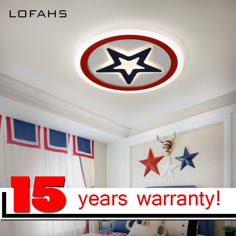 LOFAHS Modern LED Ceiling Lights For Child S Room Bedroom With Remote Control Acrylic Five Pointed