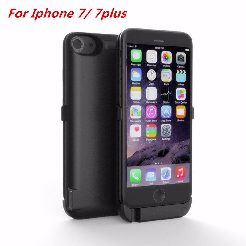 imágenes para Para apple iphone 7 iphone 7 plus caja de batería de 10000 mah de energía cargador del banco de la cubierta externa inteligente para iphone 7 7 plus de energía caso