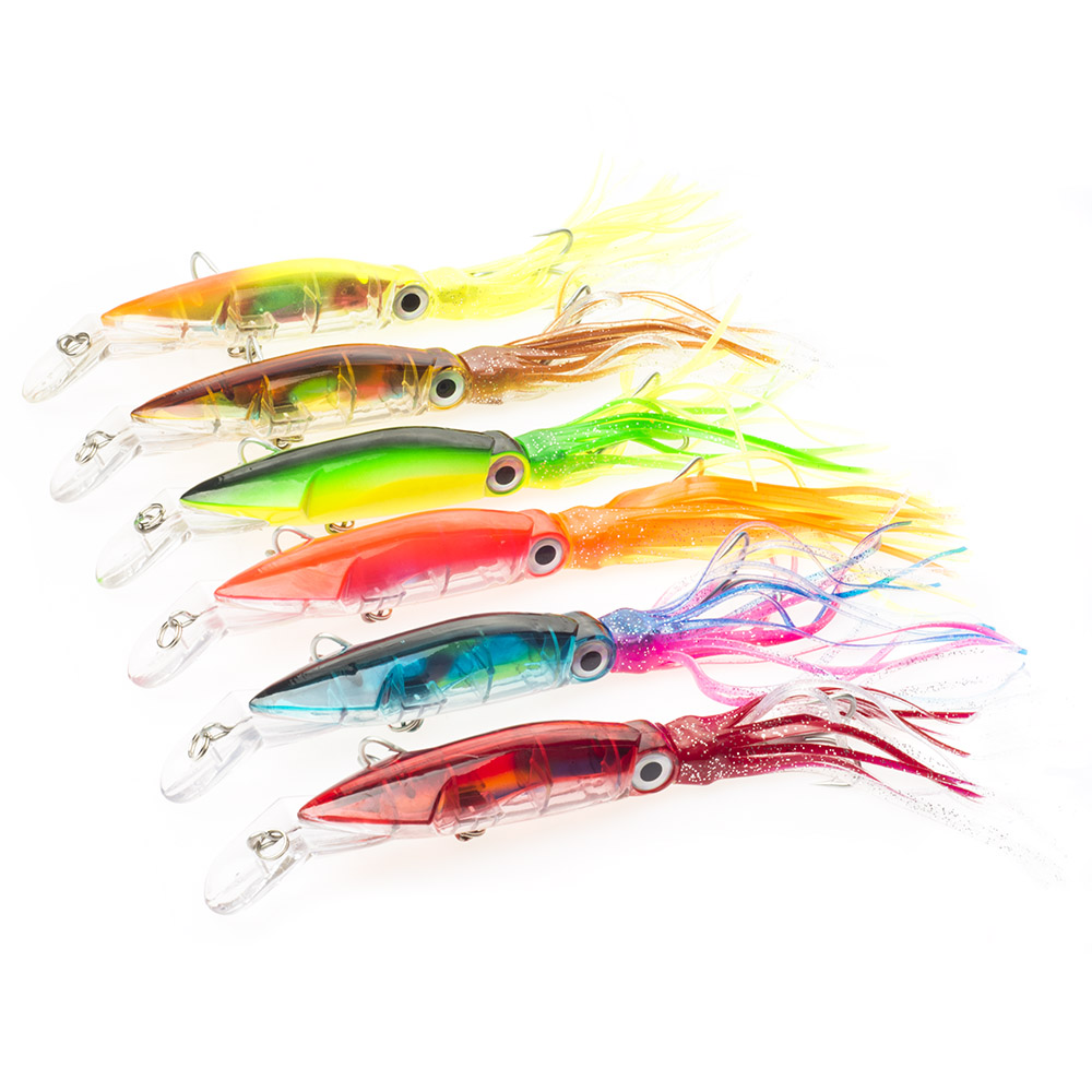 Fishing Squid Lure Big Size 24cm/40g 6pcs/lot Hard Fishing Bait Fly Fish Minnow Hard Bait Pesca Crankbait Tackle ...