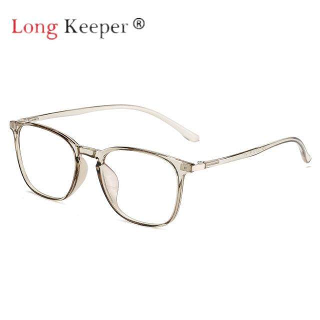 d0f2a57ba29c Long Keeper Eyeglasses Eyewear Frames Women Men Eye Glasses Plastic  titanium TR90 Clear Lens Spectacles Fashion High Quality New