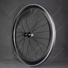 Free Painting Glossy Carbon 38/50mm Wheelset Clincher/Tubular 25mm Width Superlight Hub NBK Bearings Entry Level Road Wheels