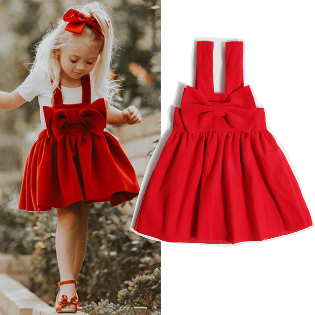 42a21cca0462 2018 New Toddler Girl Dresses Christmas Kids Dresses for girls Casual Bow Costume  girls princess dress 2-6Y Children Clothing