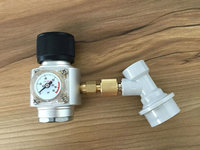 Homebrew Kegging Co2 Gas Regulator With Ball Lock 5 8 Thread